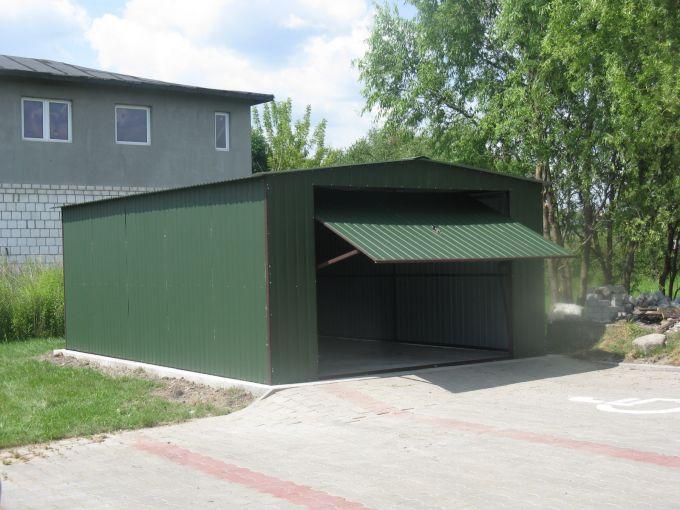 Garaż Dwuspadowy Akrylowy 4x5 Z Bramą Podnoszoną Do Góry
