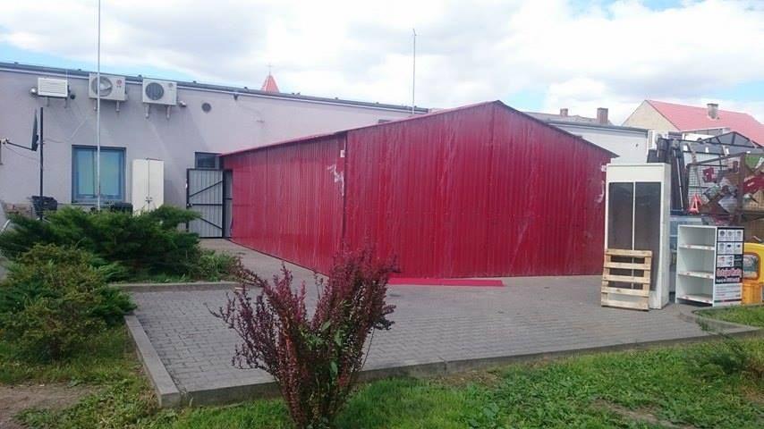 Garaż Blaszany Wiśnia 9x6 Dach Dwuspadowy Profil Kątownik