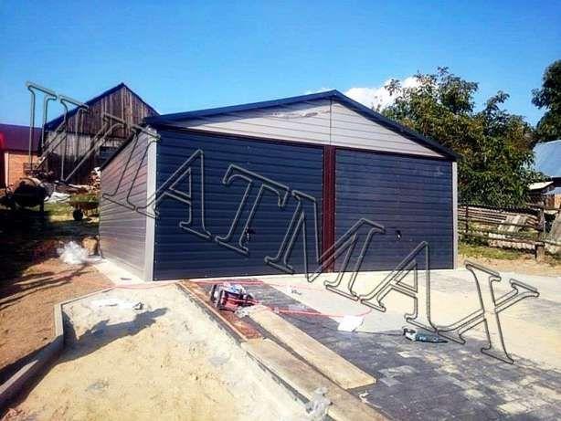 Garaż Blaszany 57 M X 6 Mkonstrukcja Stalowadwuspadowyprofil